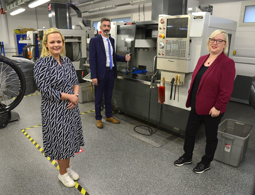 SERC Team (L-R) Trudy Patterson, Curriculum Manager for Engineering, Darren Anderson, Lecturer in Mechatronics and Aine McGreeghan, Curriculum Manager for Engineering at SERC.